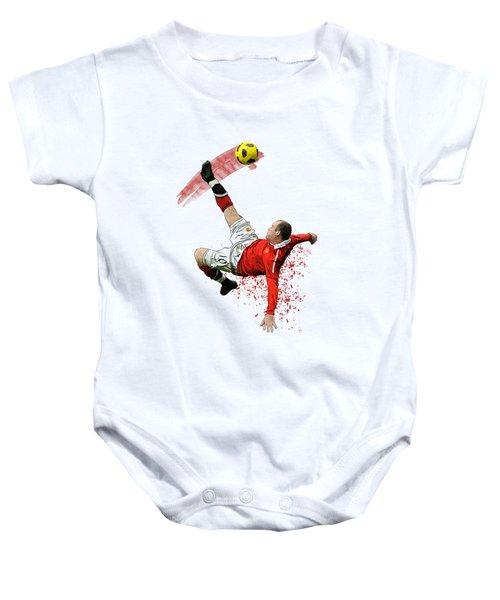 Wayne Rooney Baby Onesie by Armaan Sandhu