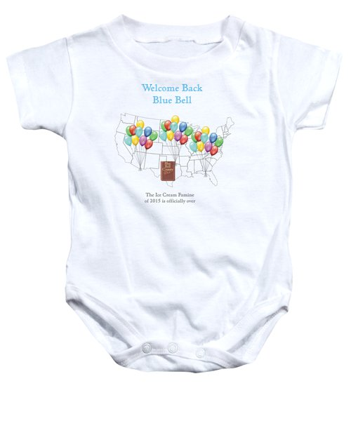 Welcome Back Blue Bell Baby Onesie by Jacquie King