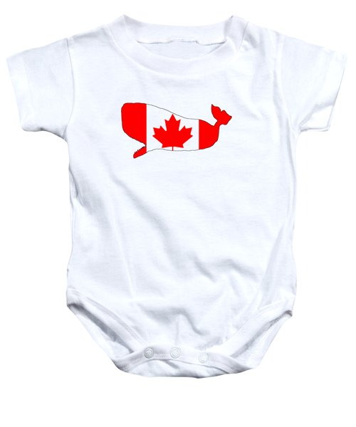 Whale Canada Baby Onesie by Mordax Furittus