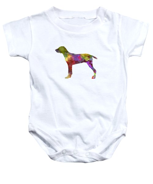 Wirehaired Slovakian Pointer In Watercolor Baby Onesie by Pablo Romero