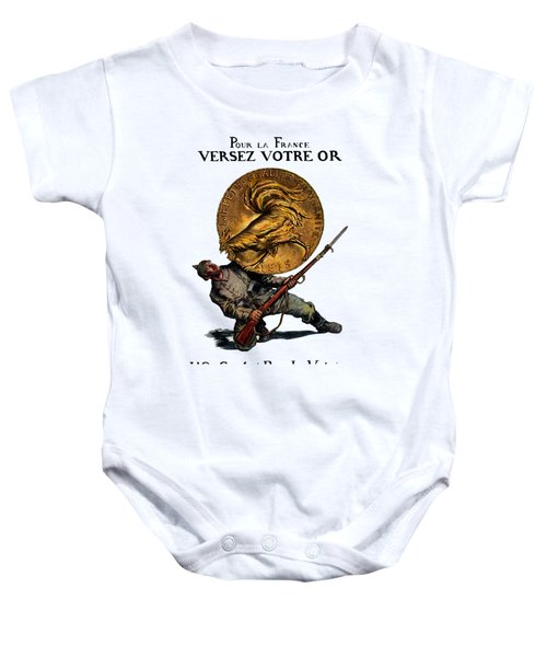 Wwi Gold For French Victory Baby Onesie by Historic Image