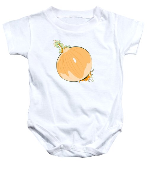 Yellow Onion Baby Onesie by MM Anderson