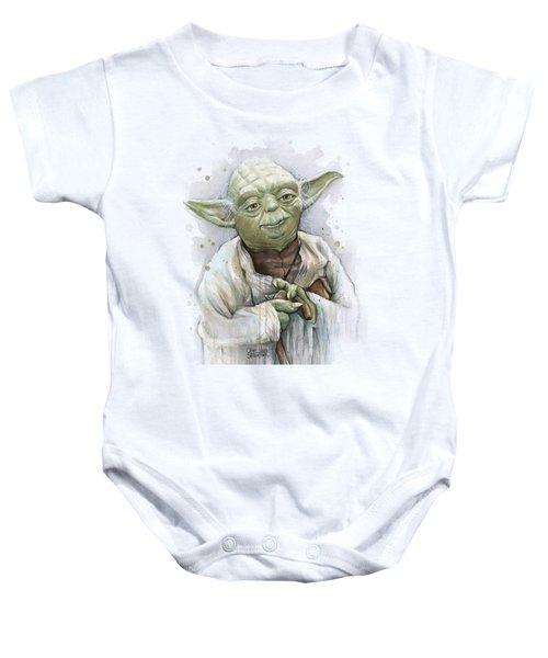 Yoda Baby Onesie by Olga Shvartsur