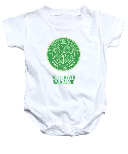 You'll Never Walk Alone Quotes Poster Baby Onesie by Lab No 4