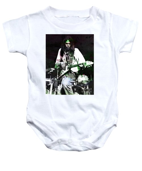 Young Neil Baby Onesie by John Malone