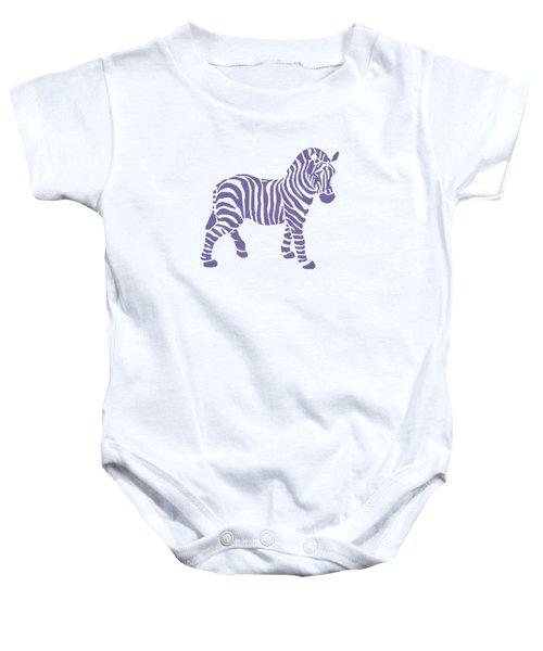 Zebra Stripes Pattern Baby Onesie by Christina Rollo