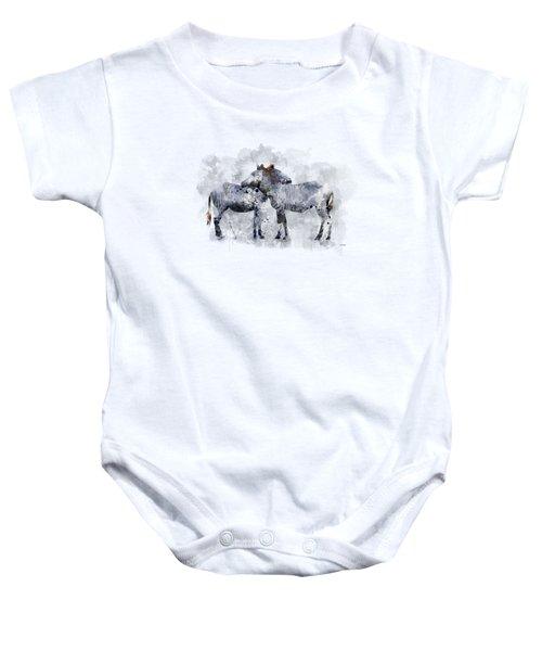 Zebras Baby Onesie by Marlene Watson