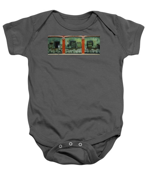 Mural On A Wall, Cancun, Yucatan, Mexico Baby Onesie by Panoramic Images