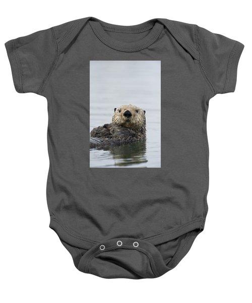 Sea Otter Alaska Baby Onesie by Michael Quinton
