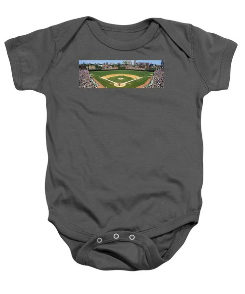 Usa, Illinois, Chicago, Cubs, Baseball Baby Onesie by Panoramic Images