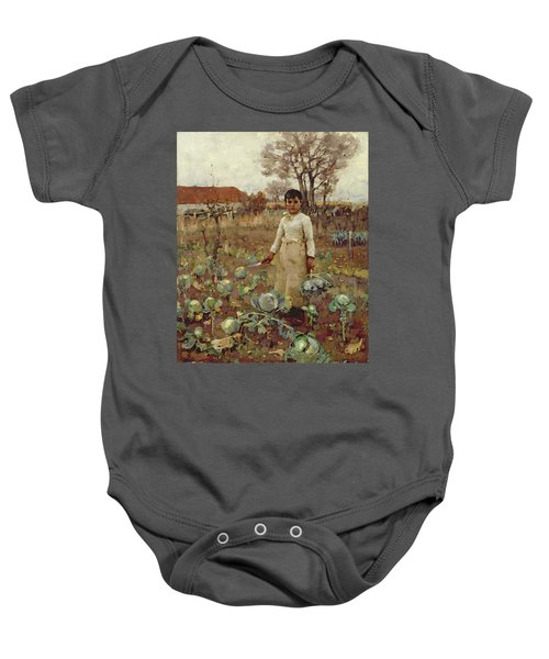 A Hinds Daughter, 1883 Oil On Canvas Baby Onesie by Sir James Guthrie