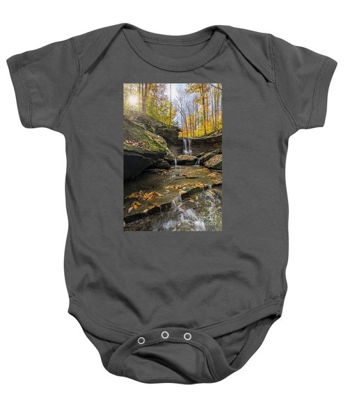 Autumn Flows Baby Onesie by James Dean