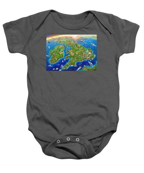 British Isles Baby Onesie by Adrian Chesterman