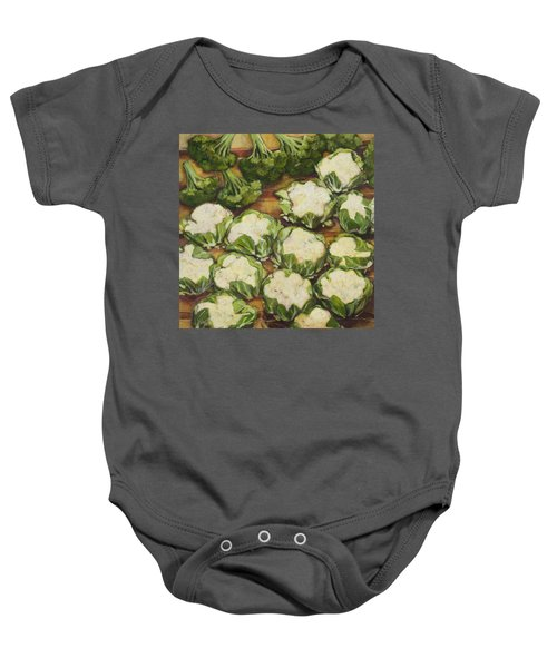 Cauliflower March Baby Onesie by Jen Norton