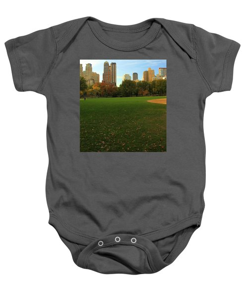 Central Park In Autumn Baby Onesie by Dan Sproul