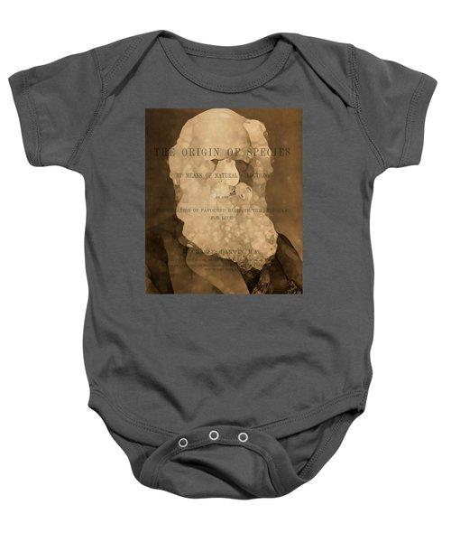 Charles Darwin The Origin Of Species Baby Onesie by Dan Sproul