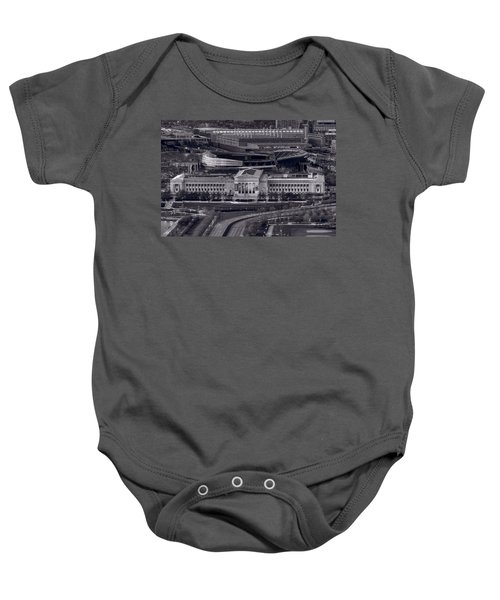 Chicago Icons Bw Baby Onesie by Steve Gadomski