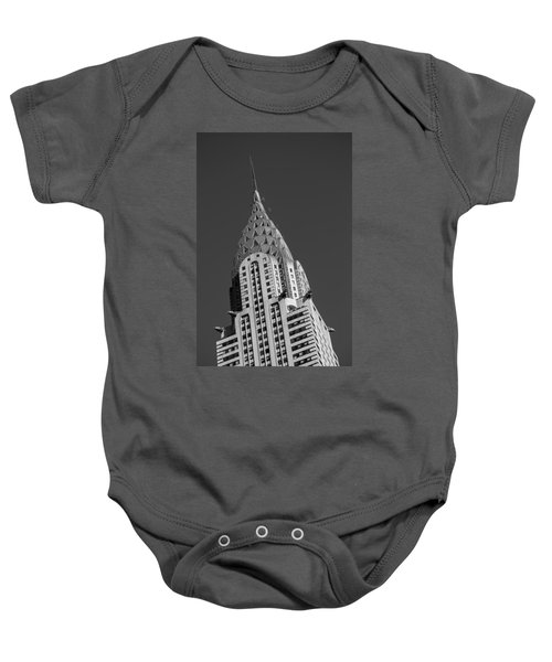 Chrysler Building Bw Baby Onesie by Susan Candelario