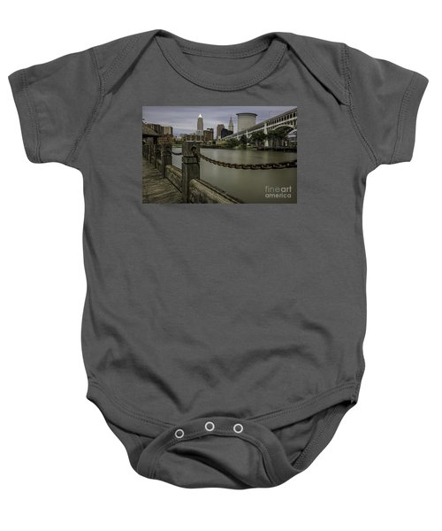 Cleveland Ohio Baby Onesie by James Dean