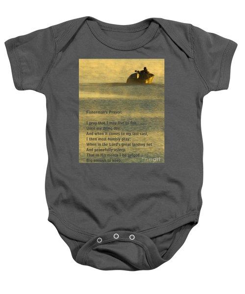 Fisherman's Prayer Baby Onesie by Robert Frederick