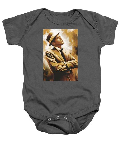 Frank Sinatra Artwork 1 Baby Onesie by Sheraz A
