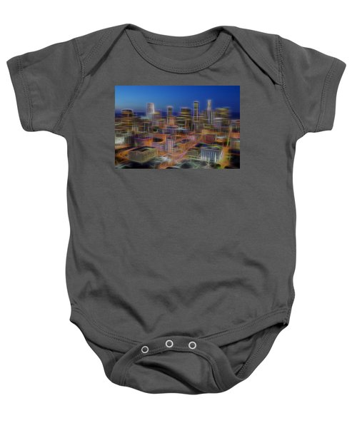 Glowing City Baby Onesie by Kelley King