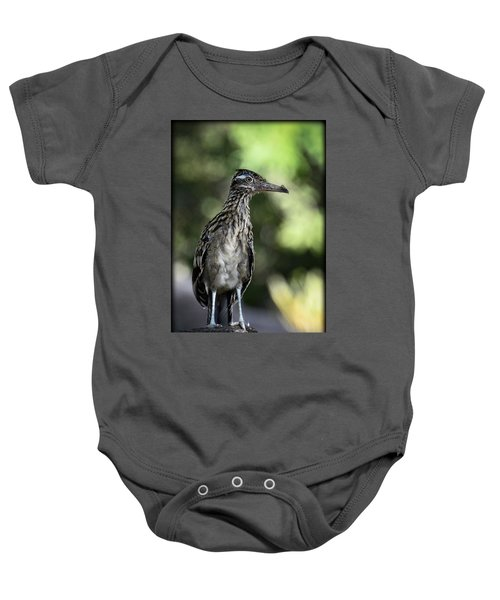 Greater Roadrunner  Baby Onesie by Saija  Lehtonen