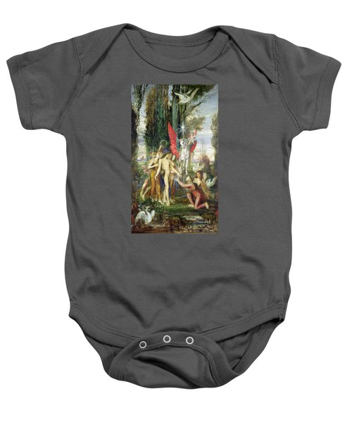 Hesiod And The Muses Baby Onesie by Gustave Moreau