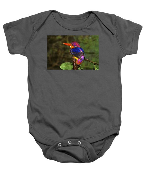 India Three Toed Kingfisher Baby Onesie by Anonymous