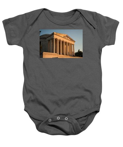 Jefferson Memorial Sunset Baby Onesie by Steve Gadomski