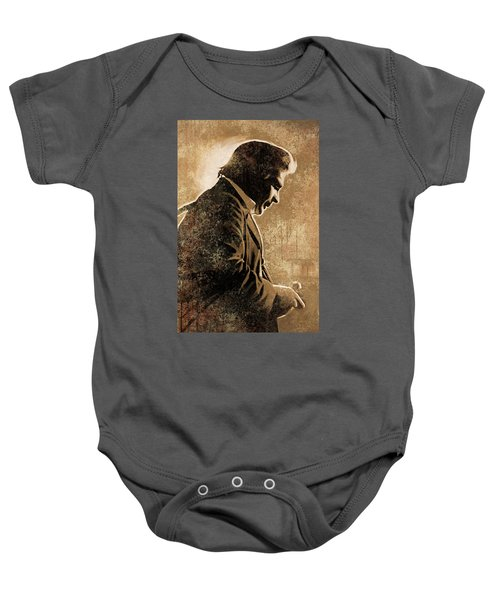 Johnny Cash Artwork Baby Onesie by Sheraz A