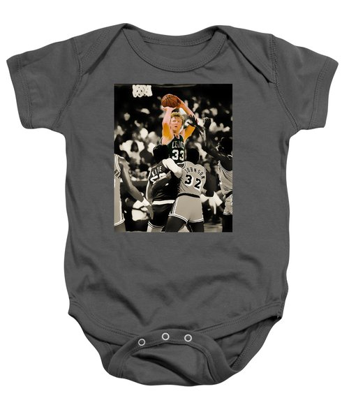 Larry Bird Baby Onesie by Brian Reaves