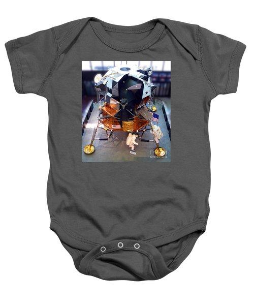 Lunar Module Baby Onesie by Kevin Fortier