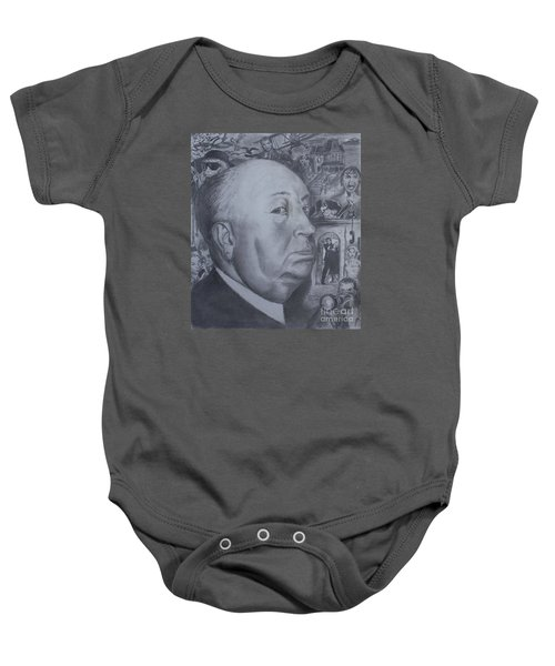 Master Of Suspense Baby Onesie by Jeremy Reed