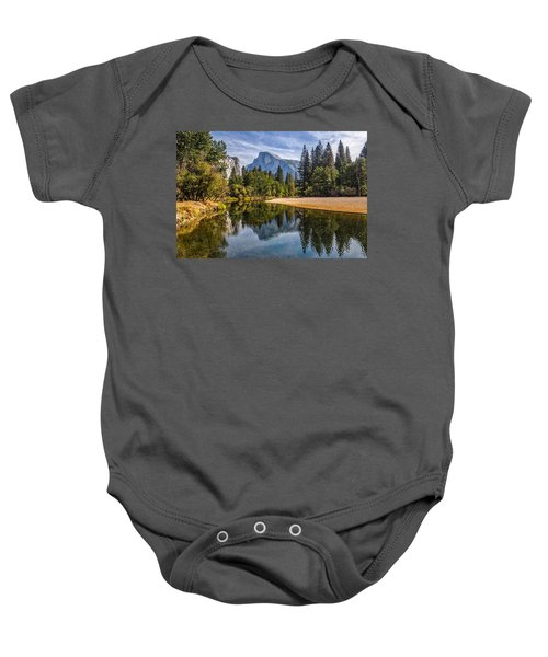 Merced River View II Baby Onesie by Peter Tellone