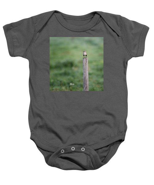 Minimalism Mockingbird Baby Onesie by Bill Wakeley