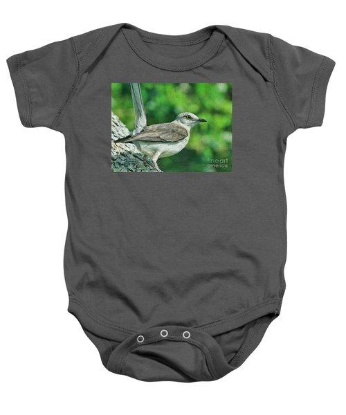 Mockingbird Pose Baby Onesie by Deborah Benoit