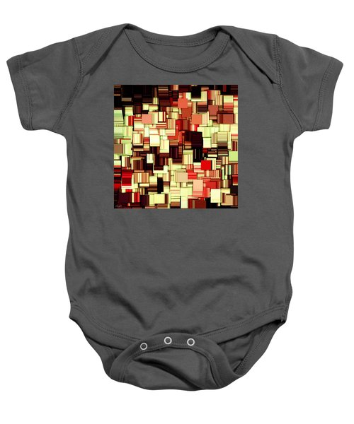 Modern Abstract Art Xvii Baby Onesie by Lourry Legarde
