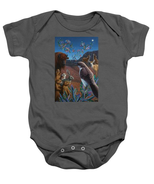 Moonlight Cantata Baby Onesie by James W Johnson