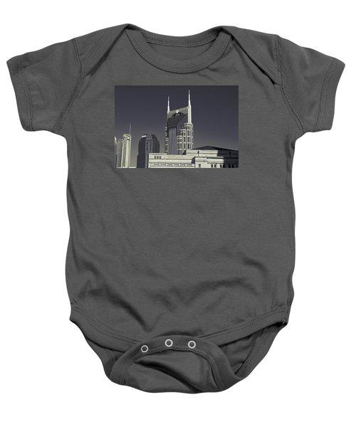 Nashville Tennessee Batman Building Baby Onesie by Dan Sproul