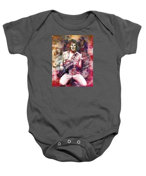 Neil Young Original Painting Print Baby Onesie by Ryan Rock Artist