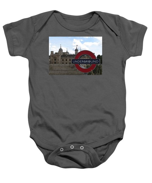 Next Stop Tower Of London Baby Onesie by Jenny Armitage