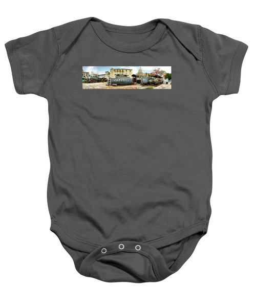 Old Trains Being Restored, Havana, Cuba Baby Onesie by Panoramic Images