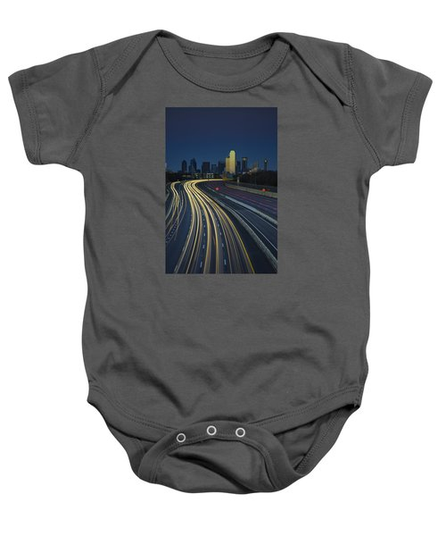 Oncoming Traffic Baby Onesie by Rick Berk