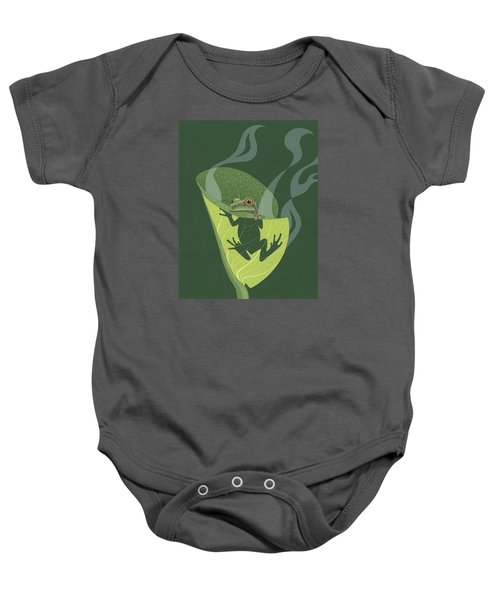 Pacific Tree Frog In Skunk Cabbage Baby Onesie by Nathan Marcy
