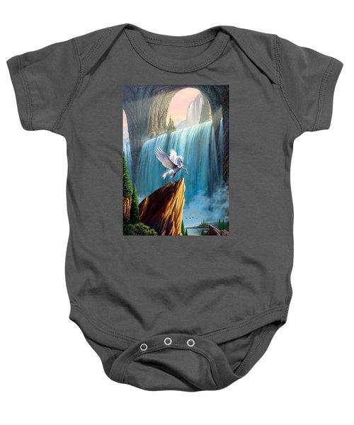 Pegasus Kingdom Baby Onesie by Garry Walton