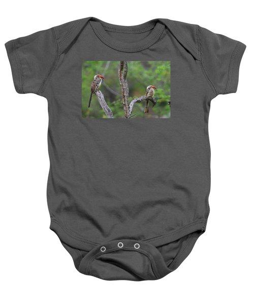 Red-billed Hornbills Baby Onesie by Bruce J Robinson