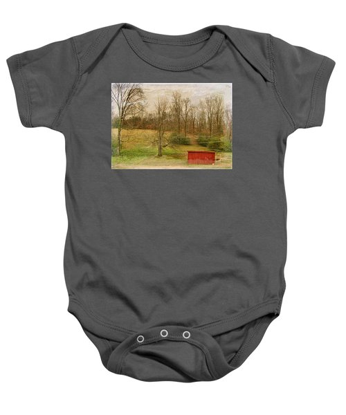 Red Shed Baby Onesie by Paulette B Wright