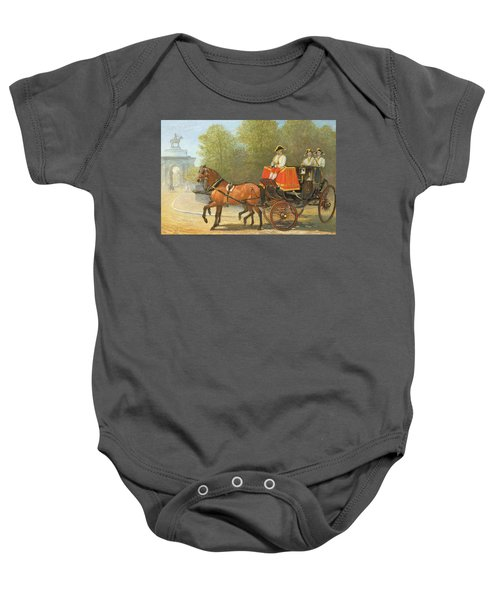 Returning From Her Majestys Drawing Room Baby Onesie by Alfred Corbould