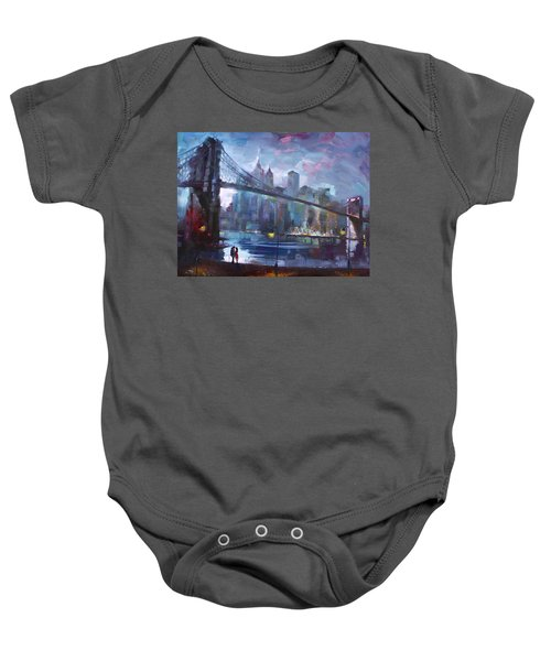 Romance By East River II Baby Onesie by Ylli Haruni